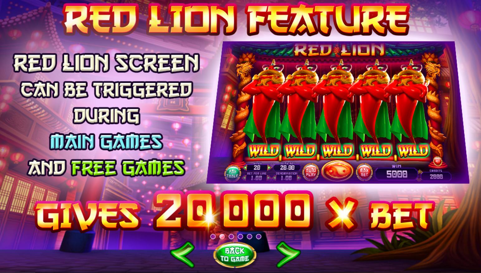 Red Lion kolikkopeli